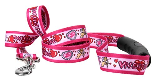 Yellow Dog Design Be My Valentine EZ-Grip Dog Leash with Comfort Handle, Small/Medium