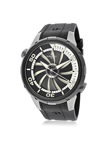 Perrelet, orologio automatico da uomo Turbine Diver in gomma nera A1067/1