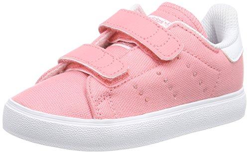 adidas Jungen Mädchen Stan Smith VULC Lauflernschuhe, Pink (Vista Pink S15/Vista Pink S15/Ftwr White), 25 EU