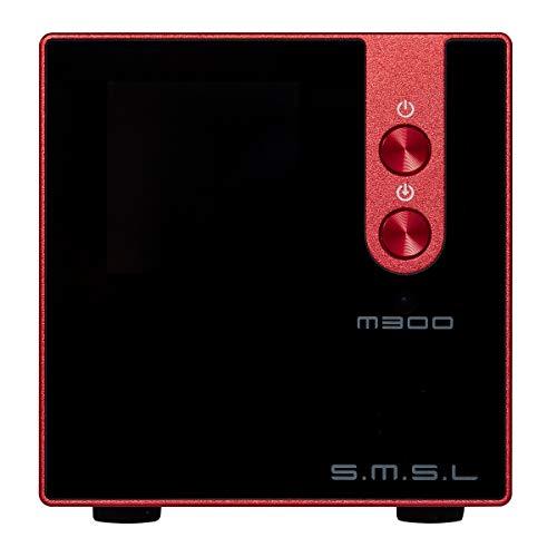 S.M.S.L M300 MKII HiFi Audio DAC, AKM4497EQ Apt-X USB DAC Decoder, Hi-Res Bluetooth 5.0 32bit/768kHz DSD512, Full Balanced Output, 6 Digital Filter Modes/3 Sound Color (Red)