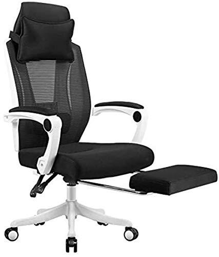 MUBAY Ergonomischer Bürostuhl Bürocomputer Stuhl, Büro-Boss Stuhl, ergonomischer Gaming Drehstuhl, Sitz, Bequeme Liege mit Pedalen