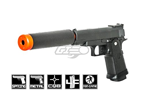 UK Arms G10A Mini M1911 Hi Capa 43 Metal Spring Airsoft Pistol – Metal Spring Airsoft Gun for Beginners Black
