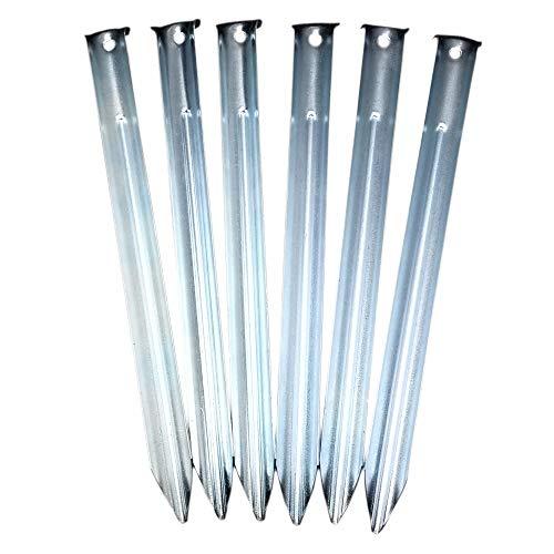 ToCi Stahlheringe mit V-Profil 23cm lang, Sandheringe, Zeltheringe im Set mit 48 Stück