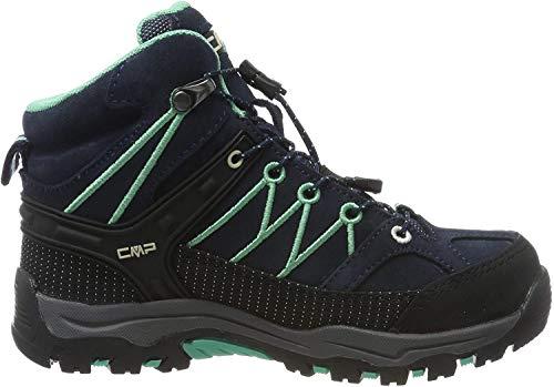 CMP Unisex-Kinder Kids Rigel Mid Shoe Wp Trekking-& Wanderstiefel, Blau (B.Blue-Aqua Mint 12nd), 31 EU