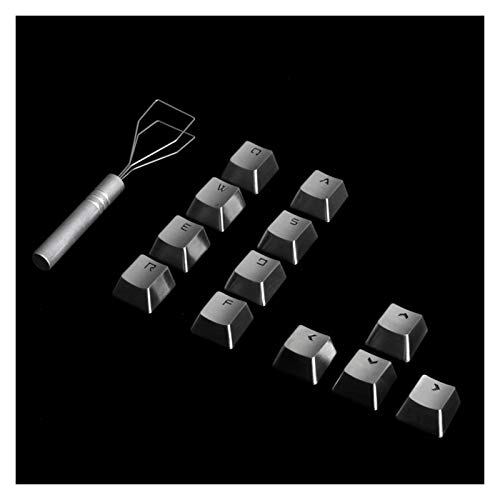 Gaming Mouse and Keyboard 4/8/12pcs Keycaps Stainless Steel Direction Arrow for Mechanical Gaming Keyboard Backlit Metal Keycap (Color : 12pcs Metal keycaps)
