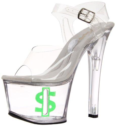 Pleaser Tipjar-708-8 - Sexy Plataforma Zapatos de tacón Alto Mujer Sandalias mit Tip-Slot - tamaño 35-45, US-Damen:EU-39 / US-9 / UK-6