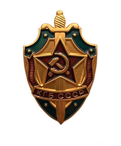Ganwear® Auszeichnung des sowjetischen russischen Staatssicherheitskomitees der UdSSR mit dem KGB Schild Metall Anstecknadel