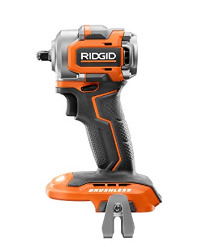 RIDGID 18V Brushless Sub-Compact Cordless 3/8 -inch Impact Wrench (Tool-Only) with Belt Clip, R87207B