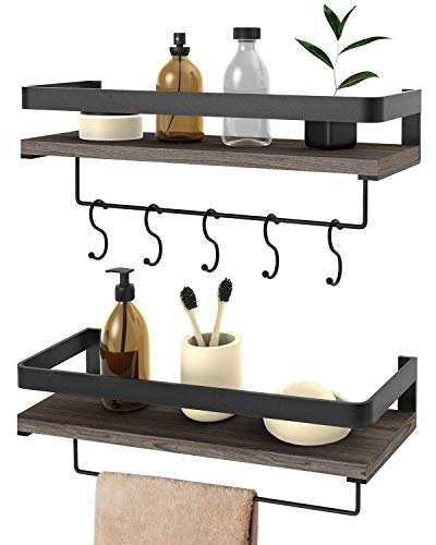 Wall Shelf Hanging Shelves Floating- Mounted for Bedroom Living Room Bathroom Kitchen, 24