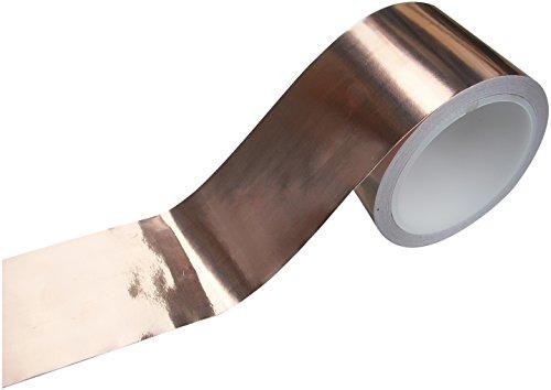 EMI Kupfer Folie Abschirm Klebe Band 25mm x 4m Geringe Impedanz Leitfähig