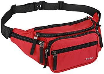ProCase Fanny Pack Waist Packs for Men Women, Waist Bag Hip Pack for Travel Hiking Running Outdoor Sports-Black