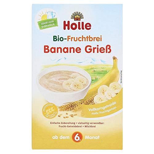 Holle Bio Papa de Semolina y Banana 6 M+ 270 g