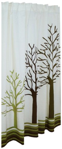 three trees woodland shower curtain