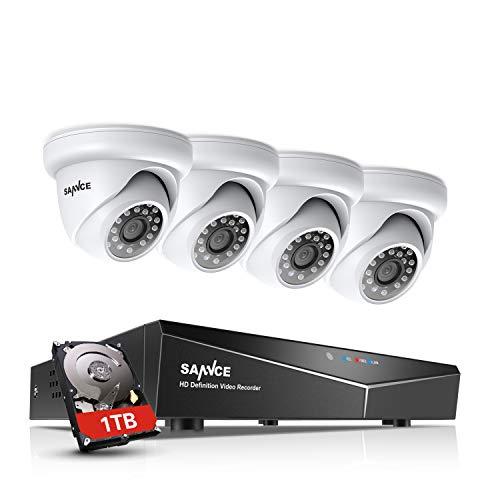 SANNCE bewakingscamera-systeem 1080P HD camera set outdoor video bewakingssysteem met 1 TB harde schijf en 30 m IR nachtzicht