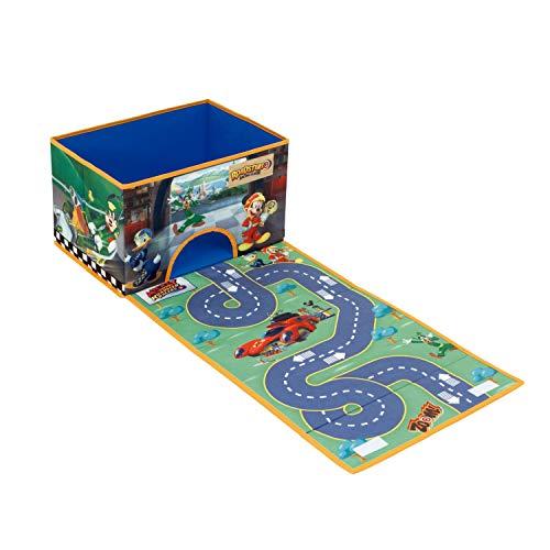 Arditex Mkrr Boîte de Rangement avec Tapis de Jeu déroulant, Polyester Multicolore, Taille M