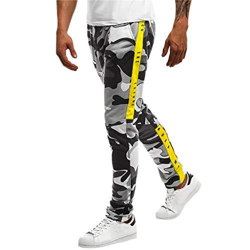 Panty's, joggingbroeken, brede broeken, broeken voor mannen, camouflage, vrije tijd, tas, sport, werk, vrije tijd, broek XX-Large zwart
