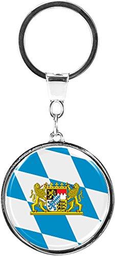 metALUm Schlüsselanhänger aus Metall / Flagge Bayern / 6610037SJ