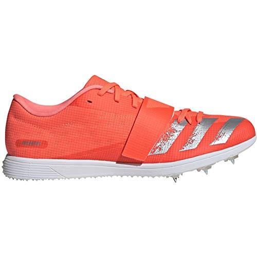 adidas Adizero TJ/PV Unisex Track & Field Shoe (Signal Coral/Silver Met./FTWR White, 8 M US)