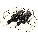 ALLOMN Soporte de exhibición de vino, 7 rejillas, soporte para copas de vino en forma de panal, estante de almacenamiento de vino, ahorro de espacio, estante de pie, estable para el hogar
