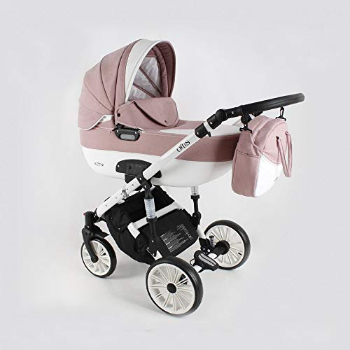 Kinderwagen 3in1 2in1 Set Isofix Buggy Babywanne Autositz Ottis We by SaintBaby White OW-02 3in1 mit Babyschale