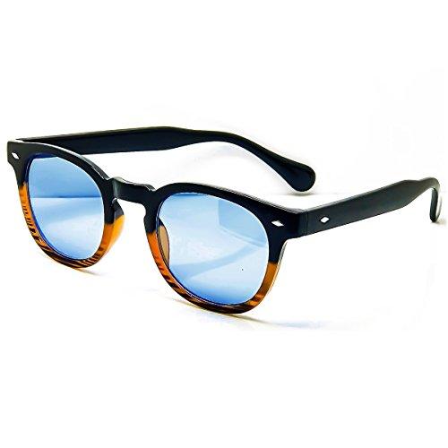 KISS Sonnenbrille stil MOSCOT mod. DEPP Gradient - VINTAGE Johnny Depp mann frau CULT unisex - BLACK WOOD