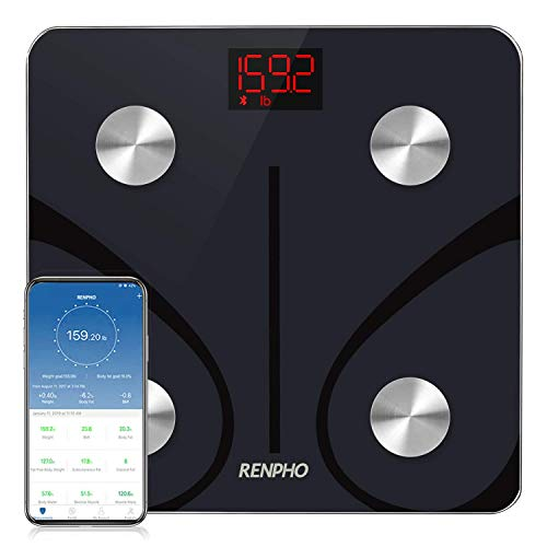 RENPHO Bluetooth Body Fat Scale Digital Weight Scale Bathroom Smart Body Composition Analyzer Wireless BMI Scale Health Monitor with Smartphone APP 396 lbs