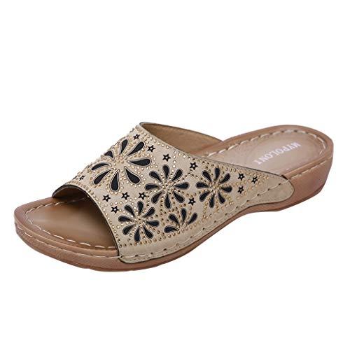 Luckycat Sandalias y Chanclas Mujer Ortopédicas Playa Sandalia Zapatillas de Trabajo para Mujer Calzado de Trabajo - Zapatillas Sandalias - Zapatillas de Corcho cómodas Trabajo liviano y cómod