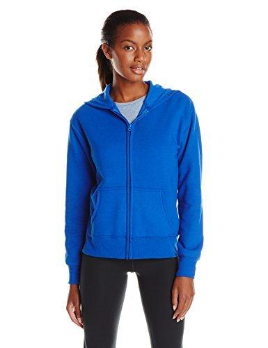 Hanes Women's EcoSmart Full-Zip Hoodie Sweatshirt, Blue Allure, Small