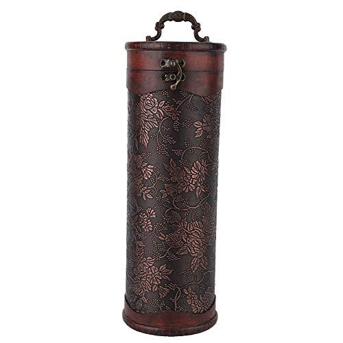 Caja de vino vintage, Caja de vino de madera, cajas de regalo de una sola botella con tapas para vino champán