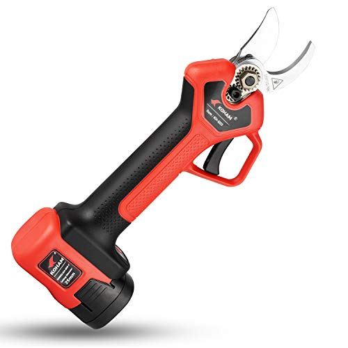 KOHAM Professional Cordless Electric Pruning Shears 16.8V 2Ah Lithium Battery Powered, ETL Certified, 1 Inch Cutting Diameter
