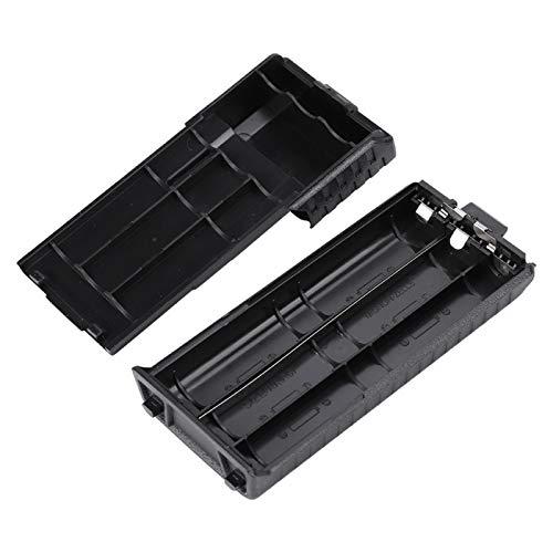 Santing Estuche de batería portátil, Estuche de batería, Reutilizable Fácil de Usar para BAOFENG UV-5R, UV-5RB, UV-5RE, UV-5RE + Negro