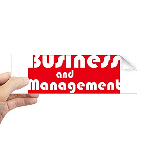 DIYthinker grote bedrijf en management rode rechthoek bumper Sticker Notebook Window Decal
