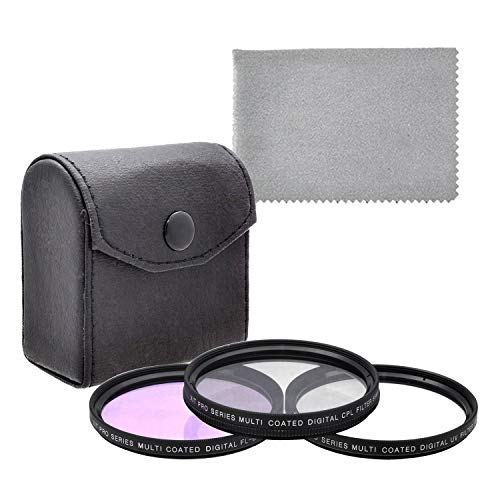 Ritz Gear 58mm Lens Filter Kit (UV, CPL, and FLD) with Cleaning Cloth for Canon EOS 70D 77D 80D 90D Rebel T8i T7 T7i T6i T6s T6 SL2 SL3 DSLR Cameras