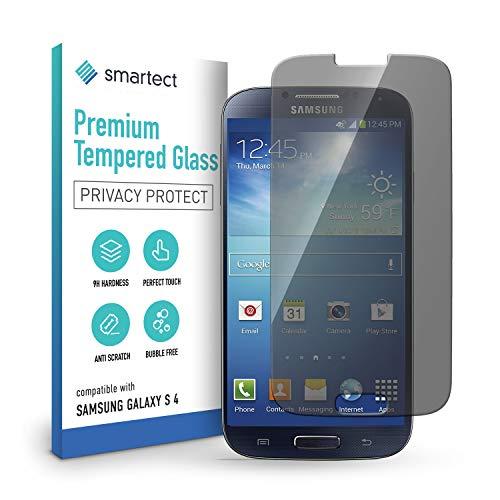 smartect Cristal Templado para Móvil Samsung Galaxy S4 / S4 NEO [PRIVACIDAD] - Protector de pantalla 9H - Diseño ultrafino - Instalación sin burbujas - Anti-huella