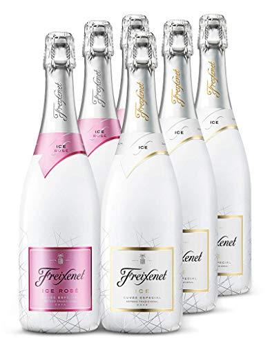 Cava Probierpaket: 3x Freixenet ICE + 3x Freixenet ICE Rose - Sommermix mit Chardonnay, Pinot Noir, Garnacha, Parellada, Macabeo und Xarel-lo