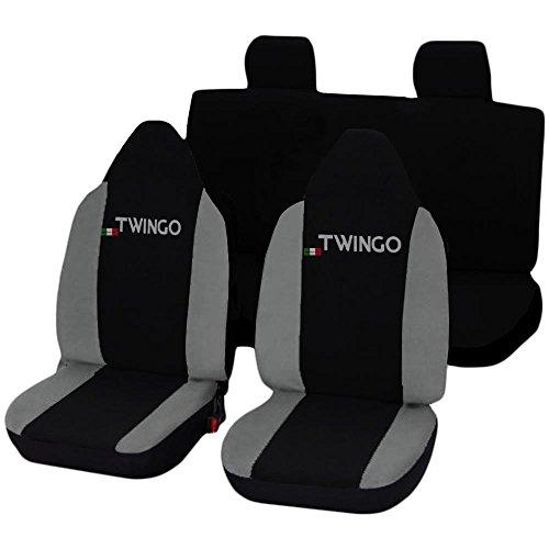 Lupex Shop Twingo_N.GC Coprisedili, Nero/Grigio Chiaro
