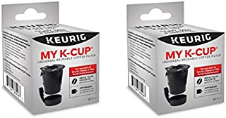 Keurig My K-Cup Universal Reusable Ground Coffee Filter, Pack of 2, Compatible with All Keurig K-Cup Pod Coffee Makers (2.0 and 1.0)
