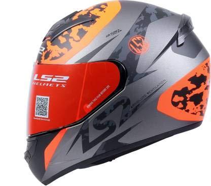 LS2 Helmets - FF352 Rookie - Airflow - Matt Black Orange - Single Mercury Visor Full Face Helmet - (X-Large - 590 MM)