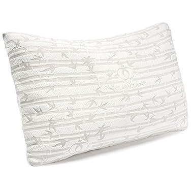 Clara Clark Bamboo Pillow, Rayon made from Bamboo Shredded Memory Foam Pillows, Premium Adjustable Loft, King/Cal King Size