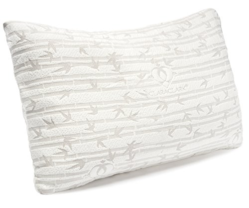 Clara Clark Ultra-Luxury Bamboo Shredded Memory Foam Pillow - Premium Breathable Cooling...