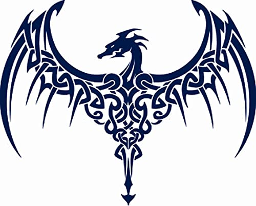Dragon Juice Ink Temporary Tattoo Semi Permanent for Adults Woman Celtic Dragon Tattoo Navy Blue that Look Real Men Women Chest Neck Arm (4 Sheets)
