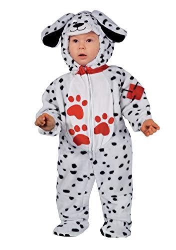 Ciao Dalmatino Tutina kostuum voor kinderen, uniseks, taglia 2-3 Anni, baby- en peuterkostuums, bianco/nero