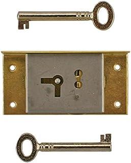 Skeleton Key Badge M-1888 UNIQANTIQ HARDWARE SUPPLY Antique Cabinet Vintage /& Modern Furniture Restoration Hardware Full Mortise Right or Left Hand Door or Drawer Lock Set with Skeleton Key Free Bonus