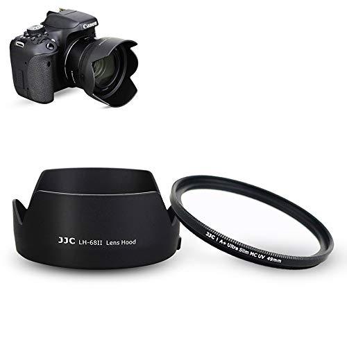 Parasol para objetivo y filtro UV compatible con Canon EF 50 mm f/1.8 STM lente sustituye a Canon ES-68