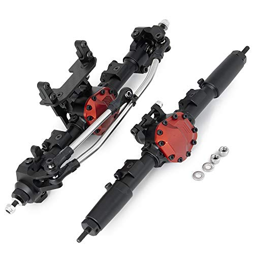 Benedict Harry Alloy Complete Front Axle and Rear Axle Upgrade Steel Gear for 1:10 Axial SCX10 II 90046/90047 SCX10 90027/90028 RC Jeep Rock Crawler