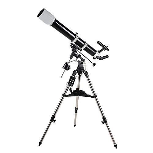 Jszzz Telescopios telescopio Refractor portátil al Aire Libre monocular Espacio astronómico telescopio Refractor con trípode y la Montura ecuatorial for el Cielo Estrellado Observación