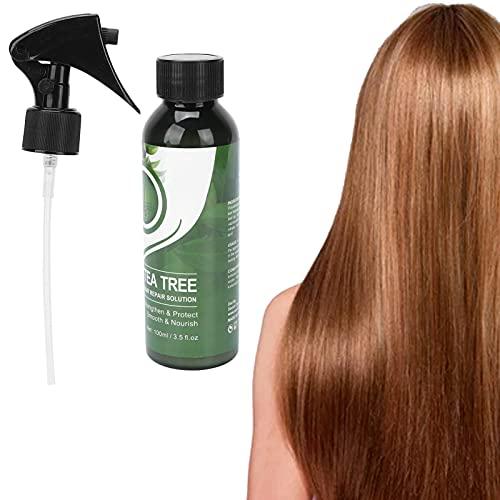 Suero para el cuidado del cabello, suero para reparar el cabello, aceite de árbol de té, suero para el cuidado del cabello, para reparar el cuero cabelludo dañado, suero para lavar el cabello, 100 ml