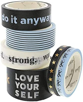Teresa Collins Bold Life Do It Anyway Washi Tape 6 Rolls product image