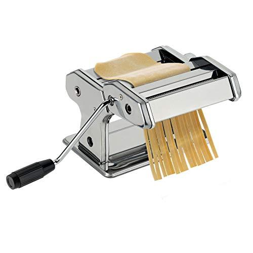 Westmark Pasta-/Nudelmaschine, Für Lasagne, Spaghetti und Tagliatelle, Stahl/Rostfreier Edelstahl, 19,5 x 20 x 15,5 cm, Silber, 61302260