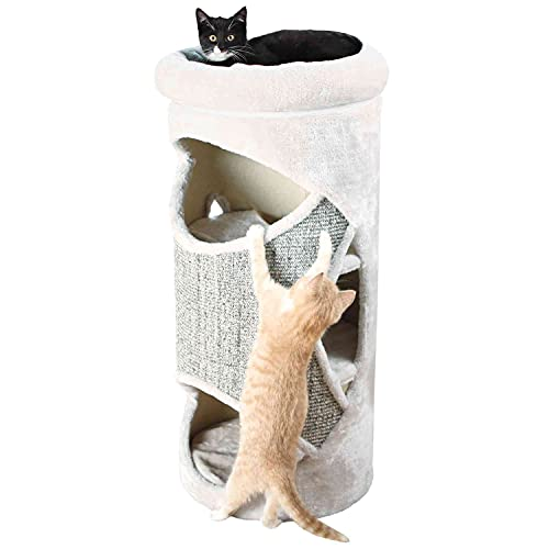 Trixie 43376 Cat Tower Gracia, 85 cm, lichtgrau/grau-meliert